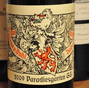 2009 paradiesgarten deidesheim riesling 300x294