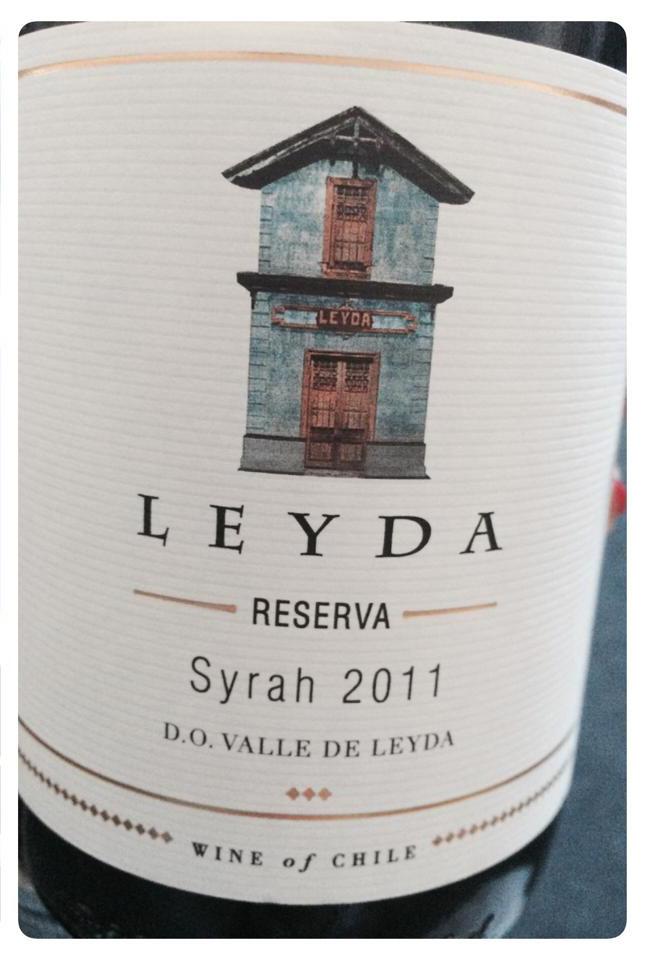 Vin från Chile, Leyda Reserva 2011. Syrah.