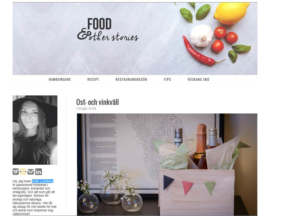 Sofie Lundberg för bloggen Food & Other Stories provar Little Eagle Rosé