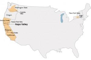 Landkarte Napa Valley