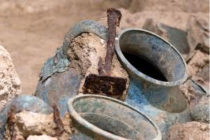 Vinamforor som hittats i samband med utgrävningar. © iStock