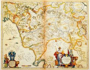Historisk karta över Toscana. Copyright: istock.com
