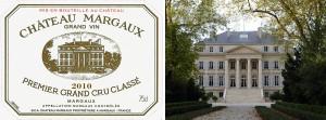 En välbekant syn – originaletiketten till Chateau Margaux Premier Grand Cru Classé.
