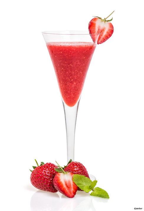 Jordgubbschampagne-drink