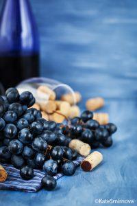 Blått vin vindruvor 200x300
