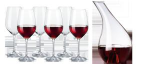 """Ett vinglas-set och en karaff från """"Zwiesel"""""""