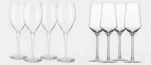 """Ett champagne glas-set och ett prosecco glas-set från """"Zwiesel"""""""